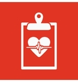 The medical report icon Medical and ambulance vector image vector image