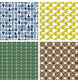 traditional print colorful seamless patterns vector image vector image