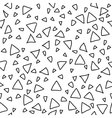 Triangle geometric seamless pattern Hand drawn vector image