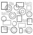 vintage postmark cachet postal watermark post vector image vector image