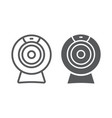 web camera line and glyph icon electronic vector image vector image