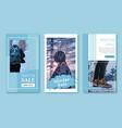 winter sale instagram stories banner template desi vector image vector image