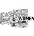 women build up their careers text word cloud vector image vector image