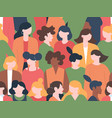 women crowd seamless pattern womens characters vector image vector image