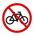 sign no bicycle vector image