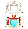 royal shield vector image
