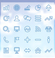 25 analytics research icons set vector image