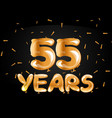 55 years golden anniversary logo celebration vector image vector image