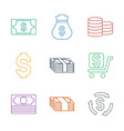 9 tax icons vector image vector image