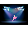 A young girl dancing ballet with spotlights vector image vector image