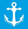 anchor icon white vector image vector image