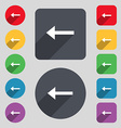 Arrow left Way out icon sign A set of 12 colored vector image vector image