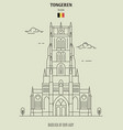 basilica our lady in tongeren belgium vector image vector image