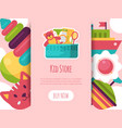 batoy shop landing page in flat cartoon style vector image vector image