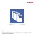 book icon - blue photo frame vector image vector image