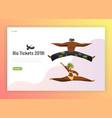 brazil dance carnival man woman landing page vector image vector image
