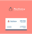 bug logo design with business card template vector image