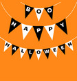 bunting flags pack boo happy halloween letters vector image vector image