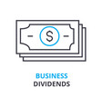 business dividends concept outline icon linear vector image vector image