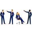 business men in different poses vector image