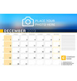 calendar for december 2019 design print template vector image vector image