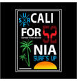 california sunset beach typography for t shirt vector image vector image
