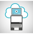cloud computing video player vector image vector image