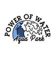color vintage aquapark emblem vector image