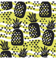 concept pineapple silhouette seamless pattern vector image