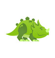 cute little dinosaur character dino child mascot vector image