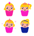Cute little princess vector image vector image