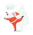 dancing santa vector image vector image
