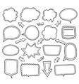 empty speech balloon collection vector image