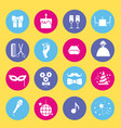 entertainment and shopping icon set vector image vector image
