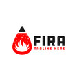 fire extinguishing fluid ball logo vector image
