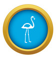 flamingo icon blue isolated vector image