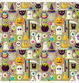 Flat Beige Halloween Trick or Treat Objects vector image vector image