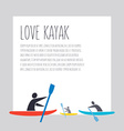 flat design style with signature love kaya vector image vector image