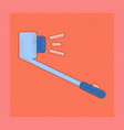 flat shading style icon selfie stick vector image