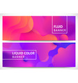fluid shapes horizontal banners vector image vector image