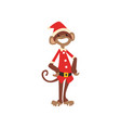 funny monkey symbol of new year cute animal of vector image vector image