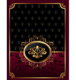 golden ornate frame with emblem vector image vector image