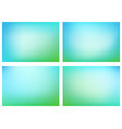 green blue blurry backgrounds vector image vector image