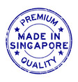 grunge blue premium quality made in singapore vector image vector image
