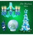 interior decoration in christmas time 7 items vector image vector image