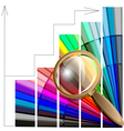 magnifying glass and color table vector image vector image