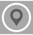 Map Marker flat dark gray and white colors round vector image vector image