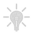 mesh light bulb icon vector image vector image