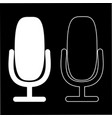 microphone icon isolated flat design audio vector image