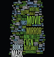 mirror mask text background word cloud concept vector image vector image